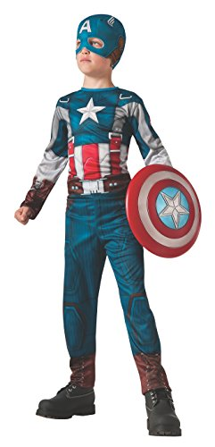 [Rubies Captain America: The Winter Soldier Retro-Style Costume, Child Small] (Captain America Boys Costumes)