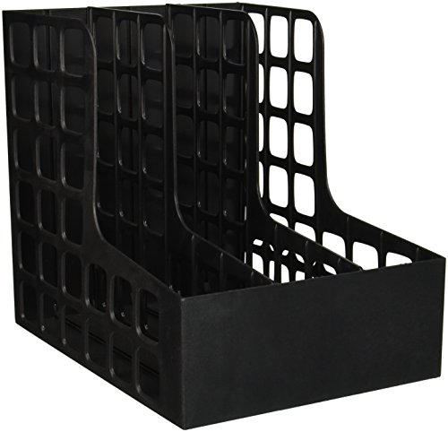 Pendaflex - DecoRack Plastic Magazine File, Two Snap-In Dividers, 9 x 10 5/8 x 12, Black 23004 (DMi EA ()