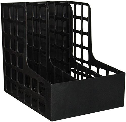 (Pendaflex - DecoRack Plastic Magazine File, Two Snap-In Dividers, 9 x 10 5/8 x 12, Black 23004 (DMi EA )