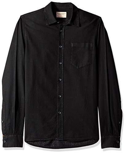 (Nudie Jeans Unisex-Adult's Henry Batiste Garment Dye, Black L)