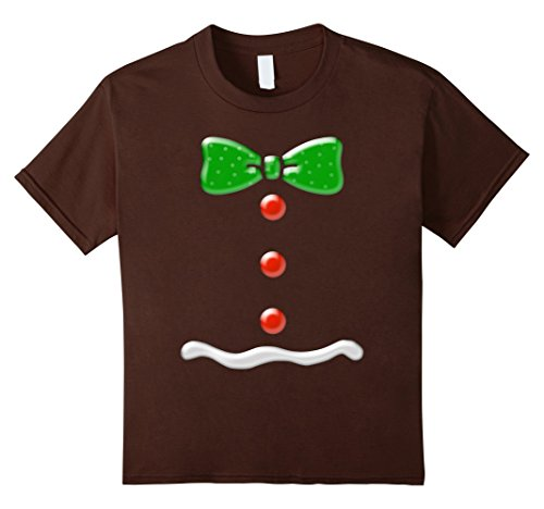 Kids Gingerbread Man Funny Christmas Costume T-Shirt 8 (Gingerbread Man Costume Funny)