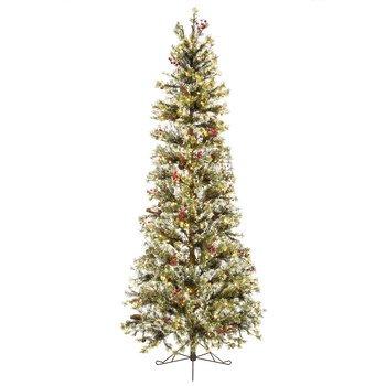 fast shape slim snow pine pre lit christmas tree 7 12