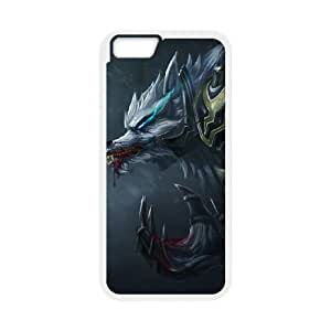 iPhone 6 4.7 Inch Cell Phone Case White League of Legends Tundra Hunter Warwick UVW0589347