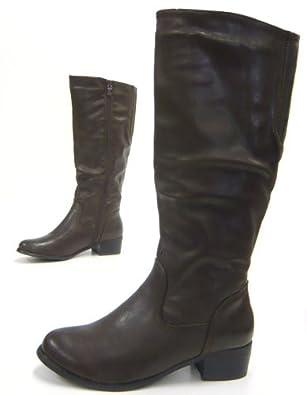 Schuhcity24 Elegante Damen Stiefel Reiter Boots kniehohe
