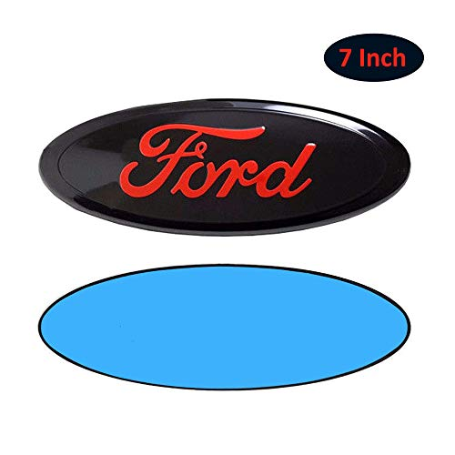 - Ford 7 Inch Front Grille Tailgate Emblem, Ford Emblem 3D Oval 3M Double Side Adhesive Tape Sticker Badge for Ford Escape Excursion Expedition Freestyle F-150 F-250 F350 (Black)