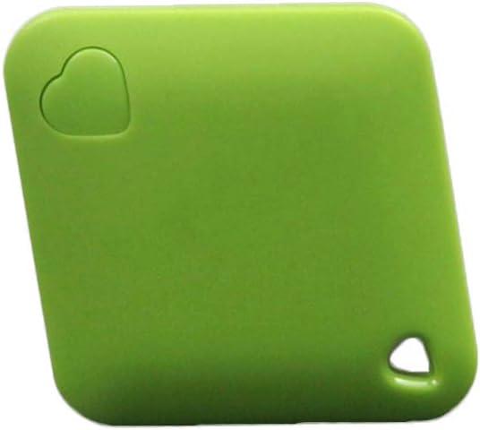 Rastreador GPS Mini Hemobllo Tracker Bluetooth antipérdida Rhombic Dispositivo de Seguimiento localizador GPS en Tiempo Real portátil para la Cartera de Coche para niños (Verde)