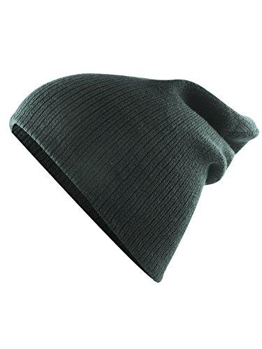 Century Star Kids Boys Girls Knit Cute Cuff Baggy Hip-hop Slouchy Hat Children Basic Beanie Dark Grey ()