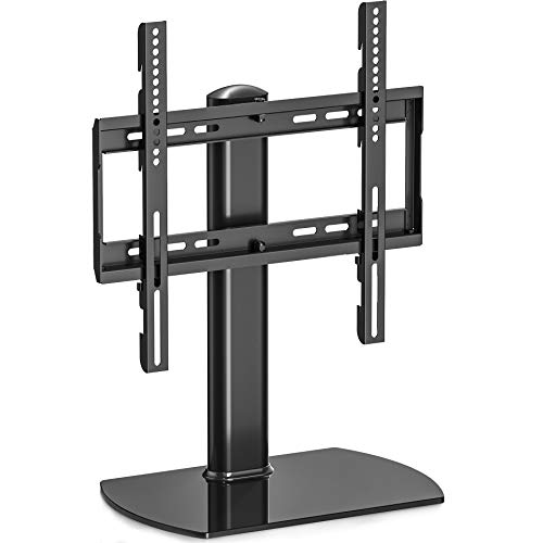 fitueyes tt104501gb fitueyes universal tv stand base swivel tabletop tv stand with mount for 32. Black Bedroom Furniture Sets. Home Design Ideas
