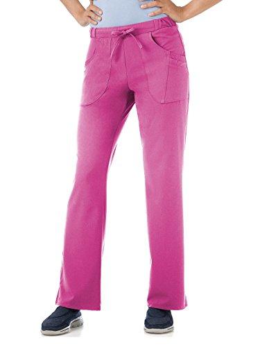 Scrubs Drawstring Waist Uniform - Classic Fit Collection by Jockey Women's Next Generation Elastic Drawstring Waist Scrub Pant Small Tall Posh Pink