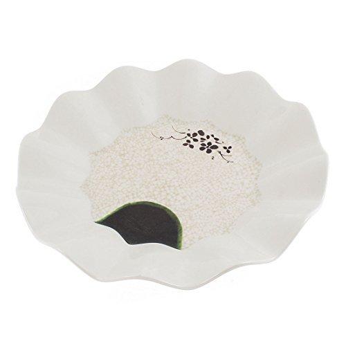 EbuyChX Plastic Wavy Edge Round Shape Dessert Salad Plate 10.5 Inch Dia