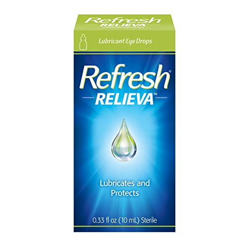 Refresh Relieva Lubricant Eye Drops For Dry Eyes, 0.33 Fl Oz Sterile