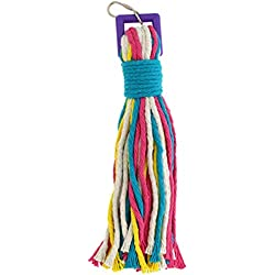 Platinum Tweeter Weave Bird Toy - Perfect Cage Toy for Playing & Preening - Colorful, Safe, Cotton Rope - Great for Medium to Large Sized Birds - Fully Engaging Activity for Your Bird