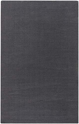 Charcoal Rug Mystique (Surya M-341 Mystique Solids and Borders Rectangle Charcoal 12' x 15' Area Rug)