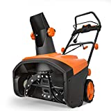 TACKLIFE Snow Blower, 15 Amp Electric Snow Thrower, 20 Inch, 4-Blade Steel Auger, 800lbs of Snow per...