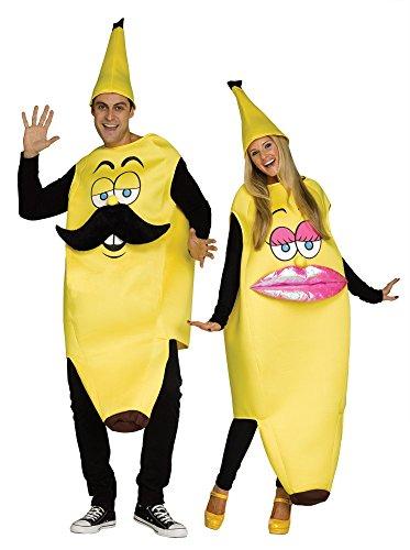 Fun World Ms. Banana Adult Women Costume, Yellow, One Size