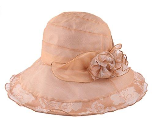 Zxcv Seda Sol color Y Coreano Protección De Visera Sombreros Femenino Camel Grande Solar Verano Púrpura Primavera Sombrero Fangshai pq68wxFB