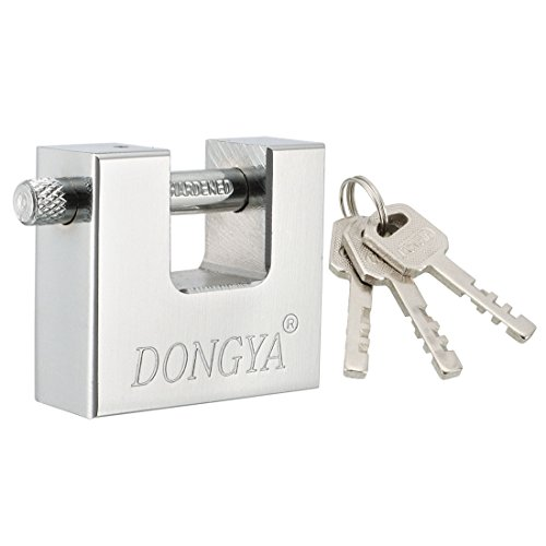Type Shackles Straight (uxcell 50mm Body Width Steel Padlock Straight Shackle Chrome Finish, Keyed Different)