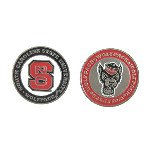 North Carolina State (NC ST) Wolfpack Golf Ball Marker Double-Sided ()