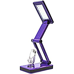 Shawshank 702369 21 SMD LED Folding Desk Lamp, Purple