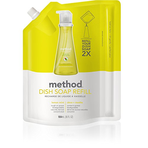 - Method Dish Soap Refill, Lemon Mint, 36 Ounce