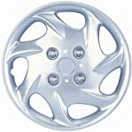 "Drive Accessories KT-881-15S/L, Nissan, 15"" Silver Replica Wheel Cover, (Set of 4)"