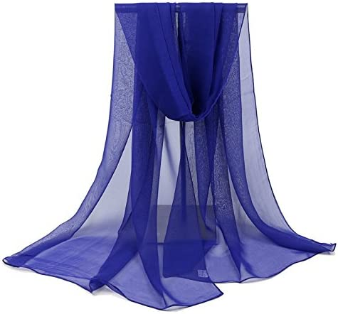 160 50cm MoGist Sciarpa da Donna Estiva alla Moda Wild Semplice Tinta Unita Simulazione Seta Protezione Solare da Viaggio Stola Telo Mare Sciarpa Chiffon Sciarpa Bianco