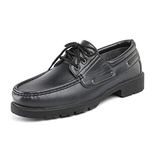 Bruno Marc Men's HANKOK-01 Black Oxfords Moccasins Boat Shoes Size 12 M US