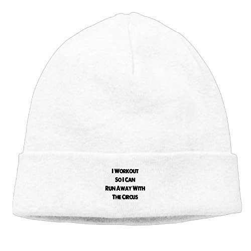 NI ER NI I Workout So I Can Run Away With The Circus New Winter Hats Knitted Twist Cap Thick Beanie Hat White (Beanie Runaway)