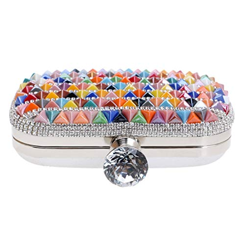 Bride FLY encrusted Bag bag Multicolor Bag Multicolor 1 New Ladies Bag Luxury Dress Banquet Color evening 1 Exquisite Evening Diamond Evening Clutch rCzwC