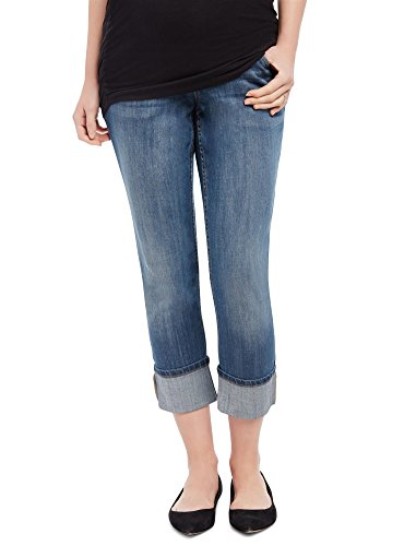 Leg Maternity Jeans Crop (Motherhood Secret Fit Belly Skinny Leg Maternity Crop Jeans)