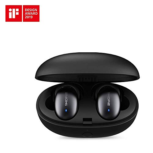 1MORE Stylish True Wireless Earbuds - Bluetooth 5.0 Stereo Hi-Fi Sound with Deep Bass Wireless Earphones Built-in Mic Headset,24 Hours Playtime,in-Ear Bluetooth Earphones with Charging Case (Best Sounding Bluetooth Earphones)
