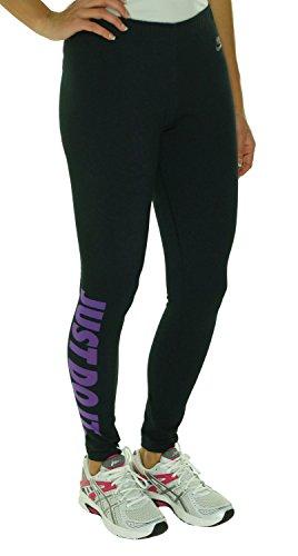 Nike Women's Leg-A-See Just Do It Tights, Black/Purple, Medium