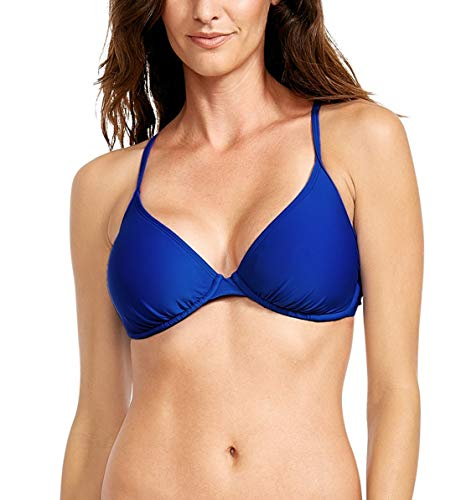 Body Glove Women's Smoothies Solo D-Cup Bikini Top, Abyss, D,Abyss,D