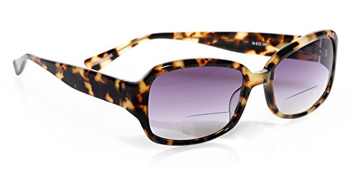 eyebobs The Graduate Reader Sunglasses, Tortoise, Reader Sunglasses with Bi-Focal - Sunglasses Scojo