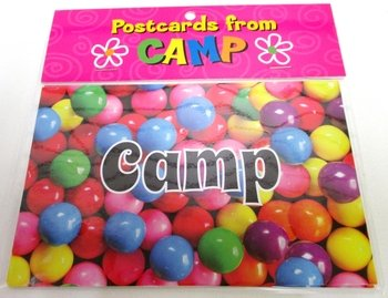 Bunk Junk Gumball Postcards Set for Camp and Vacation