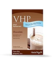 Herbal Magic VHP Chocolate Meal Replacement and Weight Loss Shakes, Satisfies Hunger, 23g Protein, Vitamins and Minerals, Aspartame-Free, Thick and Creamy, 7 x 56 Grams