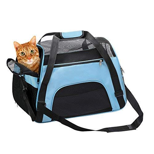 TAHNSTY Pet Carrier Bag, Cat Travel Portable Bag Home, Airline Approved Duffle Bags, for Little Dogs, Cats and Puppies…