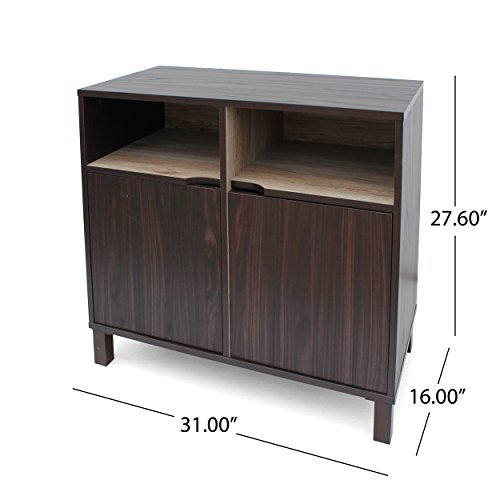 Provence 2-Shelf Walnut Finished Faux Wood Cabinet with Sanremo Oak Interior by Great Deal Furniture (Image #7)