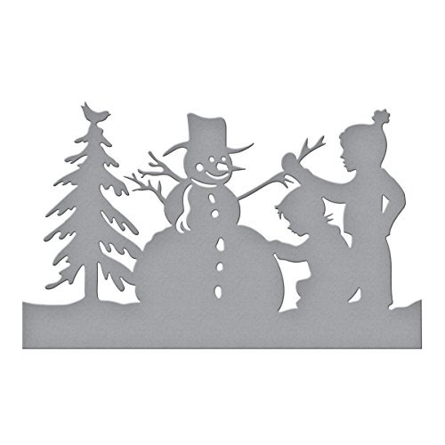 Spellbinders Shapeabilities Building a Snowman by Sharyn Sowell Etched/Wafer Thin Dies