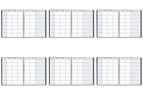 (Teacher's Planner, Embossed Simulated Leather Cover, 11 x 8-1/2, Blue)