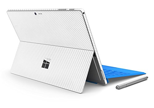 Price comparison product image Herngee Surface Carbon Fiber Texture Protective Decal Skin Protector PVC Skin Stickers for New Surface Pro 2017, Color White