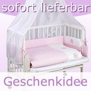 Tolle Mädchen Bettwäsche Rosa Für Beistellbett Stubenbett Komplett