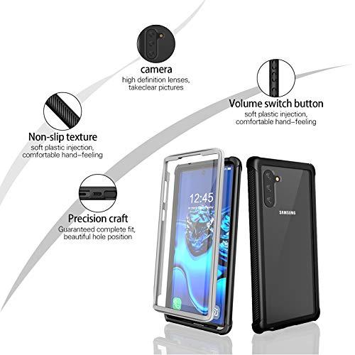 Prologfer Funda para Samsung Galaxy S9 Plus 360 Grados Transparente Carcasa Resistente con Protector de Pantalla incorporada Prueba de Golpes y Suciedad Cover para Samsung Galaxy S9 Plus Negro
