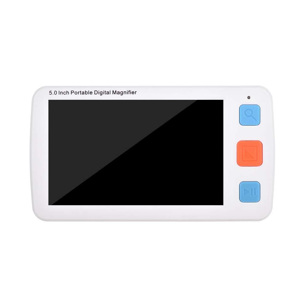 電子ルーペ デジタル Aibecy 5.0インチポータブルデジタルビデオルーペHDカラフルな液晶ディスプレイスクリーン17色モードでのロービジョン読書援助4X / 8X / 16X / 24X / 32Xでテレビへの出力をシニアを拡大   B07K9GDW81