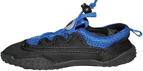 Greg Michaels Womens Water Shoes Aqua Socken - Hohe Haltbarkeit, angenehm zu tragen in Wasser und auf der Oberfläche Schwarz \\ Royal