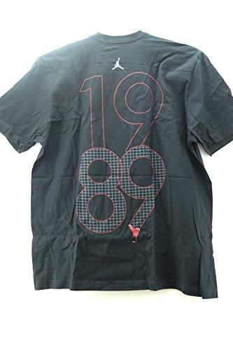 AIR JORDAN [483368-010] AJIV Retro '89 Tee Apparel Apparel Black by NIKE