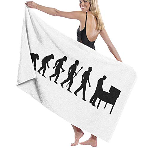 - NUNOFOG Unisex Evolution of Pinball Bath Towel Adult Soft Microfiber Printed Beach Towels Travel Towel 31x51 Inches