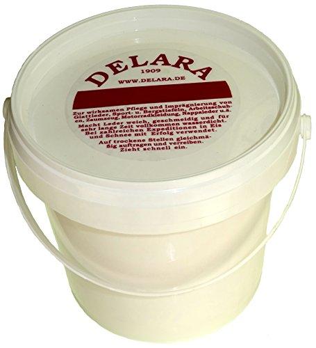 DELARA Lederbalsam mit Bienenwachs, farblos, 500 ml - Made in Germany