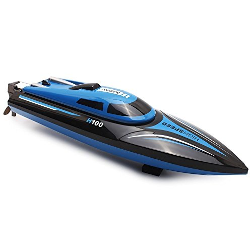 TOYEN Remote Control Boat for Lakes, Pools and Outdoor Adventure,H100 Remote Controlled RC Boats for Kids or Adults  4CH High Speed Electric RC Boat (Best Electric Rc Boat)