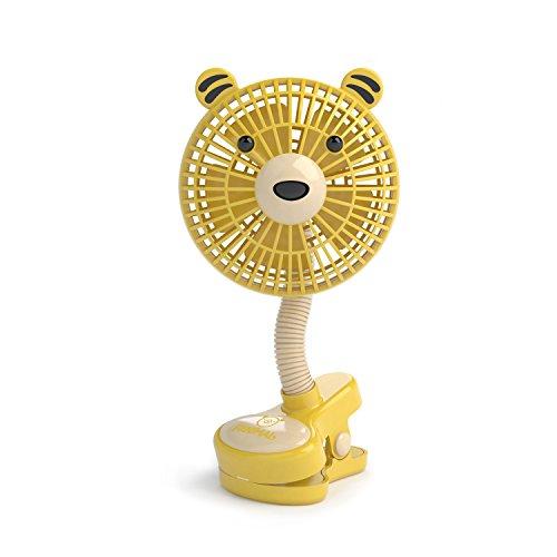 """LIVION Fanimal Clip-On Stroller Fan 5"""" - Portable Baby Fan w"""